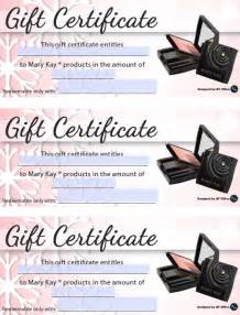 Mary Kay Gift Certificate Ideas