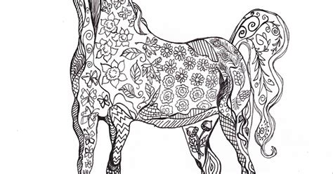 easy crafts  printable horse coloring page