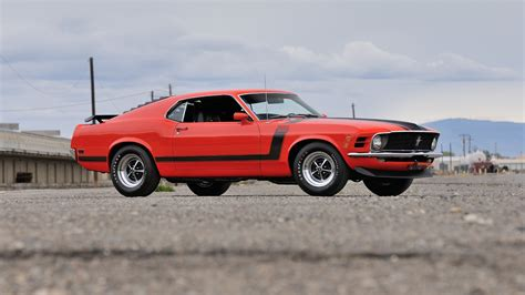 ford mustang boss  red muscle car hd  wallpaper