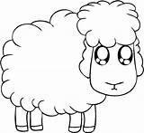 Coloring Sheep Lamb Pages Eyed Colouring Chop Preschool Looking Funny Again Bar Case Don Find Print sketch template