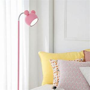 Japanese style pink floor standing lamp tall piano light for Pink floor reading lamp