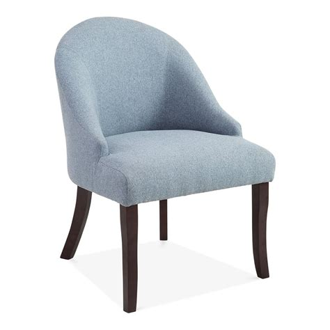 blue wool upholstered harlow accent chair modern dining