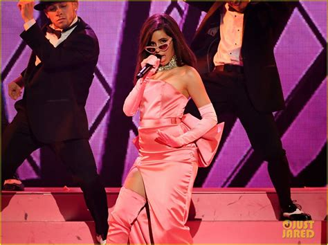 Camila Cabello Dons Pink Dress For Havana Performance