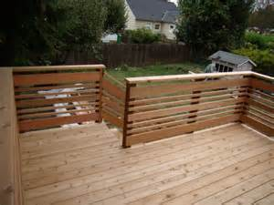 horizontal deck railing douglas shepherd woodworking