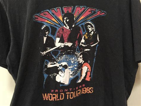 Journey Frontiers Tour Tshirt 1983 From Rocket Shop