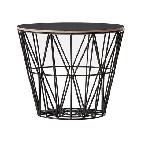 Wire Basket Ferm Living by Ferm Living Wire Basket Top I Sort Ferm Living Bord
