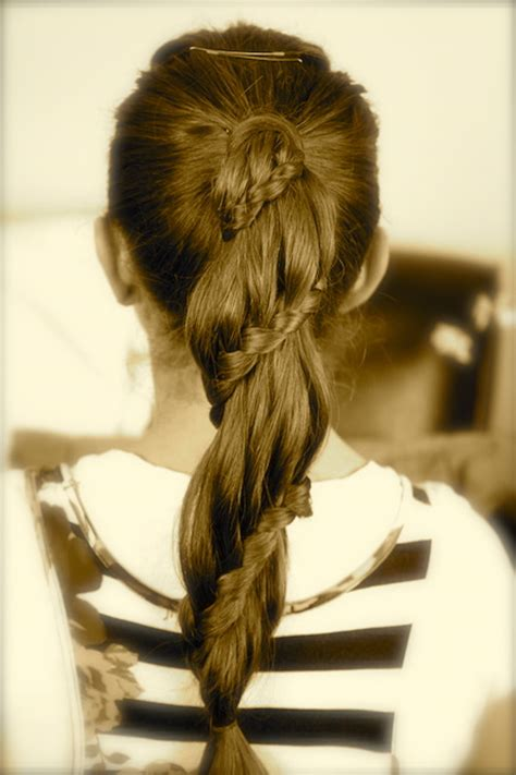 winding lace braid ponytail cute girls hairstyles