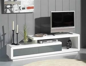 Meuble Tv Arrondi : meuble tele blanc choix d 39 lectrom nager ~ Teatrodelosmanantiales.com Idées de Décoration