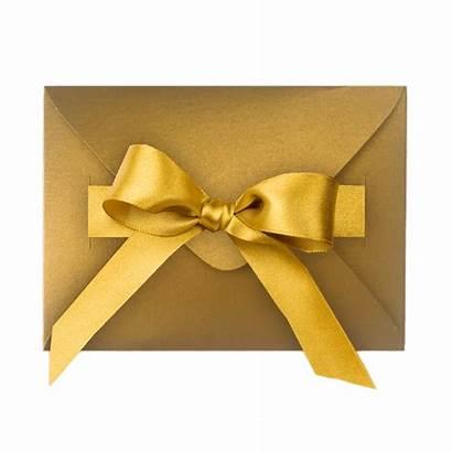 Envelope Transparent Gold Clipart Ribbon Gift Background