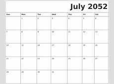September 2052 Calendars That Work