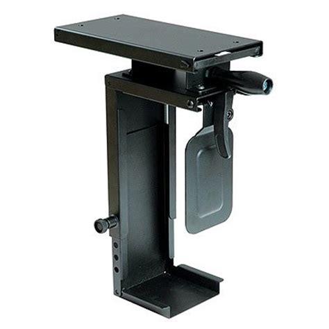 under desk computer mount ziotek under desk sliding and rotating mini cpu holder