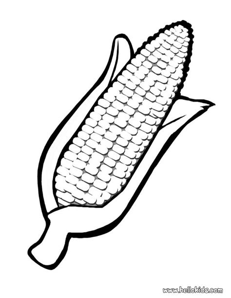 corn template the activity idea place preschool themes and lesson plans