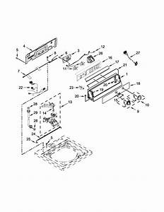 Controls And Water Inlet Parts Diagram  U0026 Parts List For