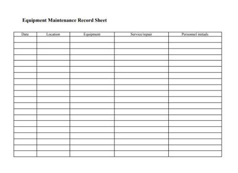 The army maintenance management system. Equipment Maintenance Log Template: 20+ Free Templates in Word, PDF and Excel Documents ...