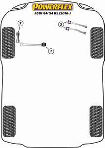 Audi A4 B9  2016   Replacement Suspension Bushings