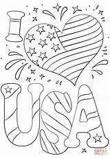 Coloring Pages Usa July 4th Printable Print Adult Sheets Fourth Flag Patriotic Independence Adults American Memorial Supercoloring Road Drawing Books sketch template