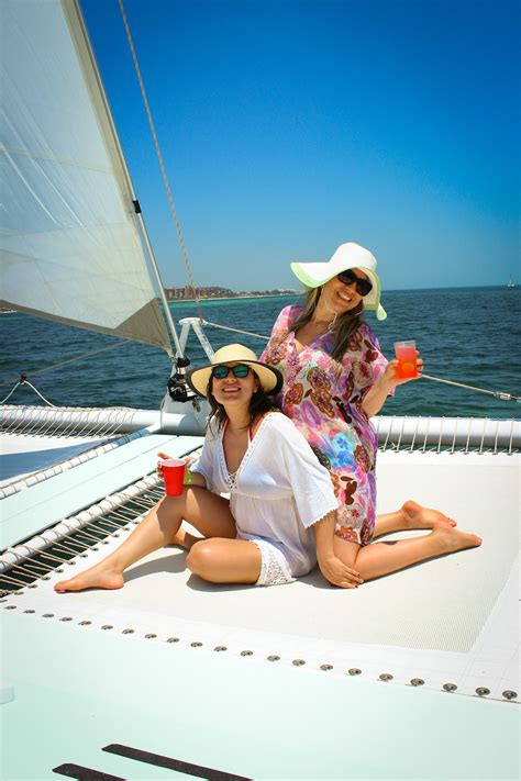 Isla Mujeres Catamaran Trip Thomson by Catmania Best Sailing Company In Playa Mujeres Cancun