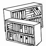 Bookshelf Coloring Empty Pages Getcolorings sketch template