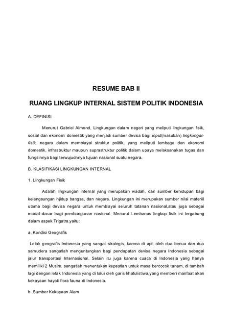 """Resume buku Sistem Politik Indonesia karya A. Rahman H.I"""""""