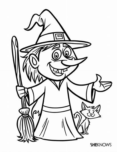 Witch Halloween Ugly Coloring Pages Witches Printable
