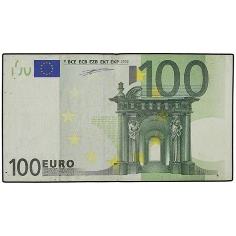 canap 100 euros 100 euros 2002 error falta de holograma en billete
