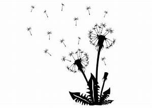 Bild Pusteblume Schwarz Weiß : gro es wandtattoo l wenzahn pusteblume ~ Bigdaddyawards.com Haus und Dekorationen