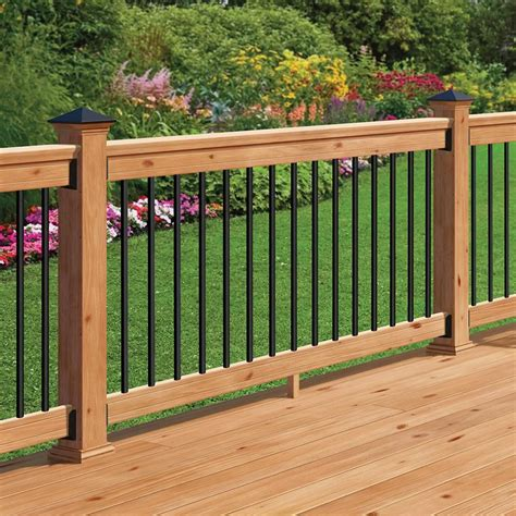 Home Depot Banisters by Deckorail Western Cedar 6 Ft Railing Kit With Black