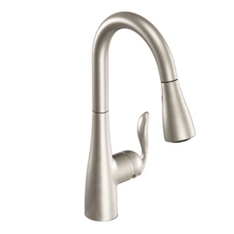 leaking single handle kitchen faucet moen 7594srs arbor single handle pull kitchen