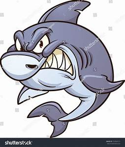 Cartoon Angry Shark Vector Clip Art Stock Vector 153094121 ...