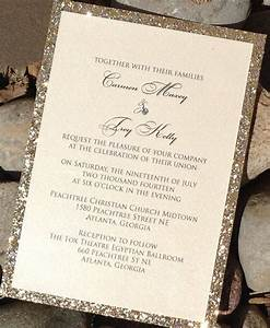 glitter wedding invitation glitter bridal shower With wedding invitations glitter border