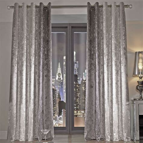 Silver Bedroom Inspo by Minogue Natala Curtains Silver