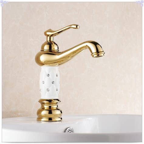 gold finish bathroom sink faucet design single lever basin