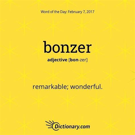 bonzer english vocabulary words words word   day