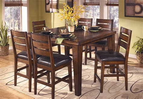 bar height table 6 chairs larchmont 7pc counter height dining set lexington