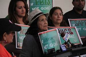 Dolores Huerta Foundation protests impending KHSD gun vote ...