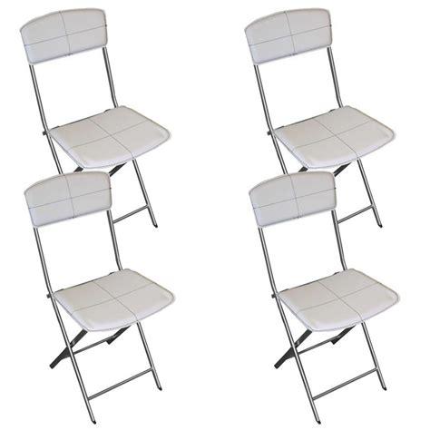 chaise en cuir blanc chaise en simili cuir maison design wiblia com