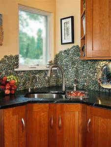30 trendiest kitchen backsplash materials kitchen ideas for River rock backsplash ideas