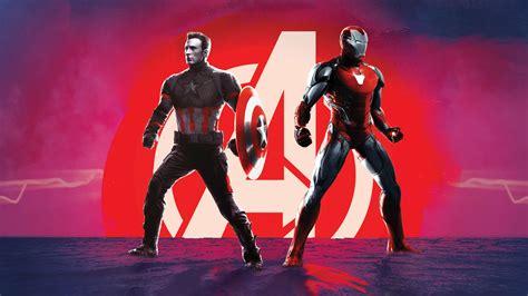 wallpaper captain america iron man avengers endgame