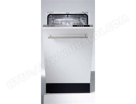 lave vaisselle integrable 45 cm sharp qws32i471x lave vaisselle tout integrable 45 cm