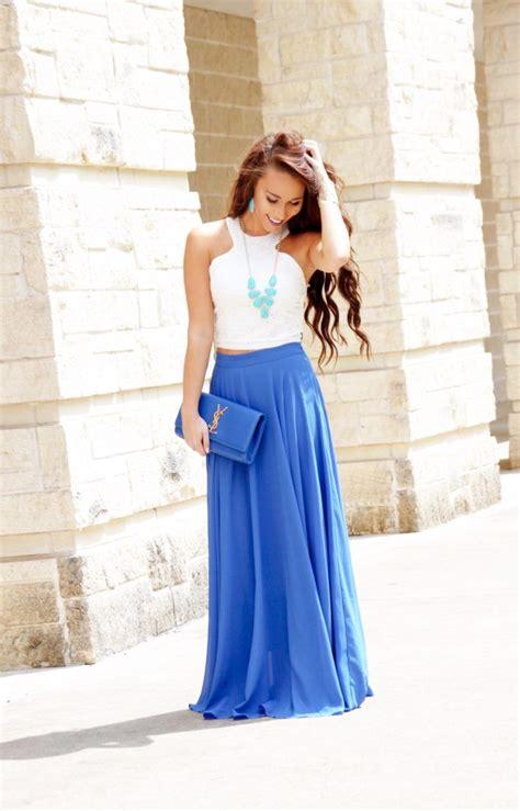 Morning Skirt morning lavender royal blue maxi skirt