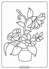 Coloring Flowers Pages Printable Pdf sketch template