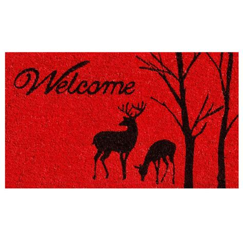 Winter Doormat by Home More Winter Welcome 17 In X 29 In Coir Door Mat