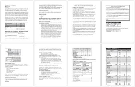 market analysis templates examples word excel