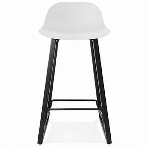 Chaise Mi Hauteur : tabouret de bar chaise de bar mi hauteur design obeline mini blanc ~ Teatrodelosmanantiales.com Idées de Décoration