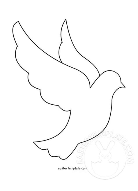 dove template peace dove template printable easter template