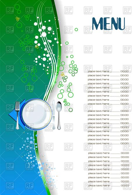 blank menu template free download restaurant menu blank template vector image 54047 rfclipart