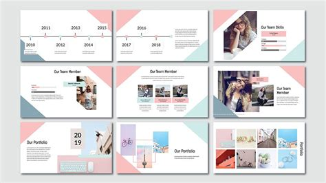 pink pastel  powerpoint template   powerpointify