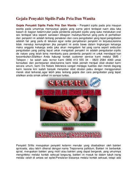 gejala penyakit sipilis pada pria dan wanita