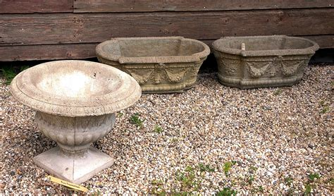 Concrete Planters, Urns And Garden Accessories On Sale At