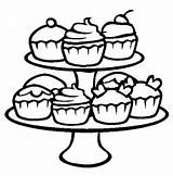 Coloring Pages Cupcakes Cupcake Printable sketch template